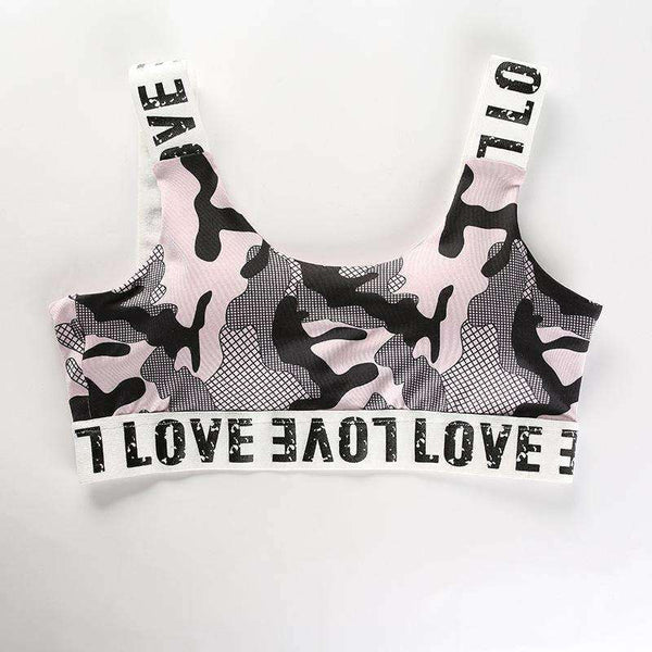 LOVE Letters Camouflage Sports 2 Pieces Set - Lupsona