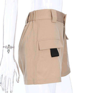 Pocket Cargo High Midi Casual stuttbuxur - Lupsona