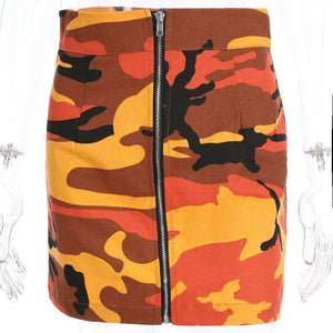 Cool Camouflage Print Front Zipper krilo - Lupsona