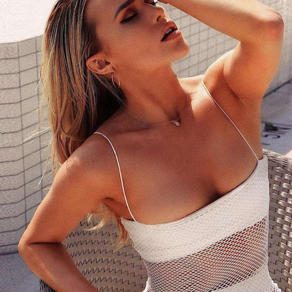 Sexy Beach Fishnet Mesh Slip Dress
