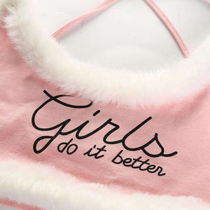 GIRLS TO IT LEPŠÍ Tisk Furry Cami Crop Top - Lupsona