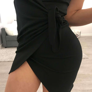Sexy Waist Tie-up Bowknot Strappy Dress