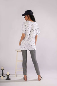 Sun Stars Moon Print T-Shirt Mini Kleed - Lupsona