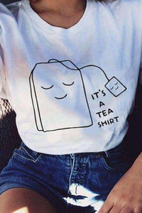 T-shirt casual com estampa engraçada de It's A Tea Shirt - Lupsona