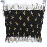 Shiny Stars Mesh Patch Elastic Cub Tub Top