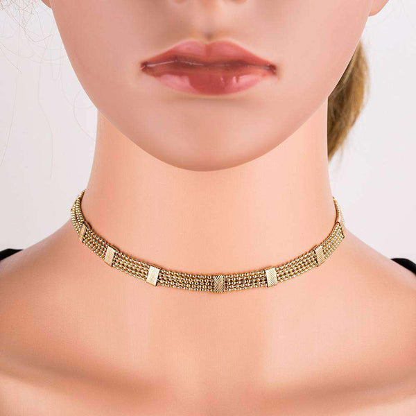 Multi-Layer-Diamant Pendant Choker Necklace