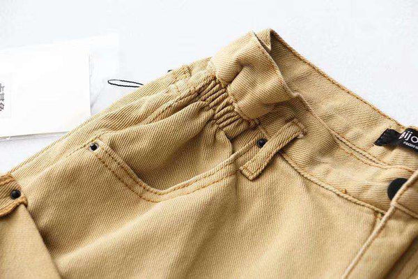 5 Colors Casual Rolled Hem Denim Shorts - Lupsona