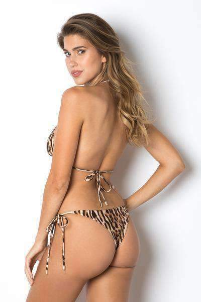 Leopard 2 Pieces Bikini Set zum Binden