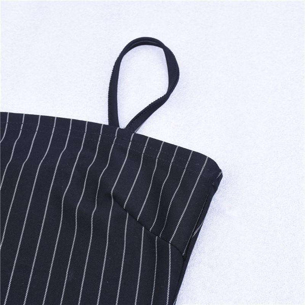 Stripes Model Strappy Bodysuit Sus