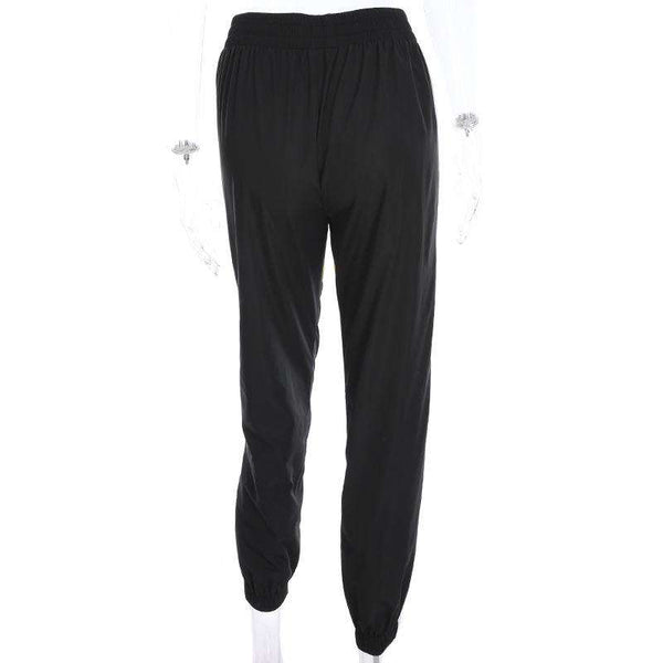 Chic Patch Casual Jogger Nohavice - Lupsona