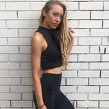 Zipper Turtleneck Sports Tank Top