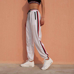 Side Stripes Casual Jogger Pants - Lupsona