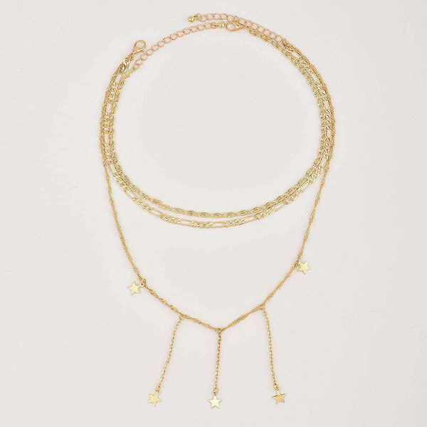 Little Stars Tassels Choker Necklace - Lupsona