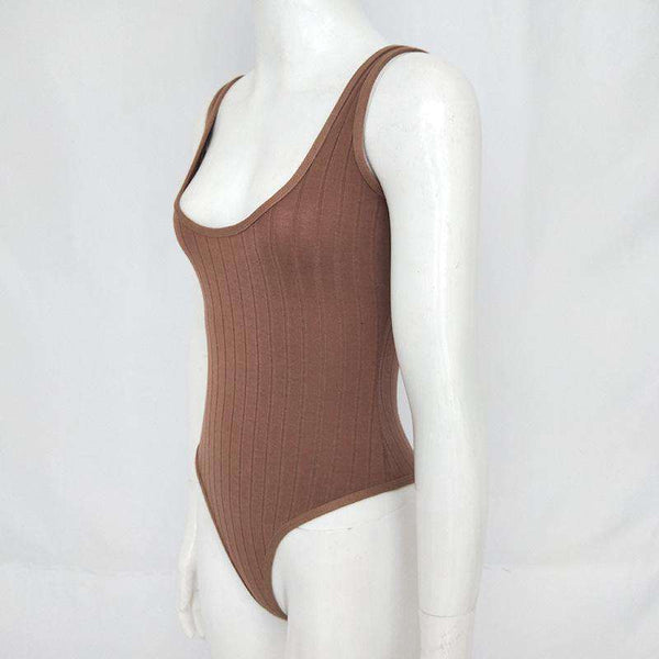 Solid Color Low-Cut Body Top
