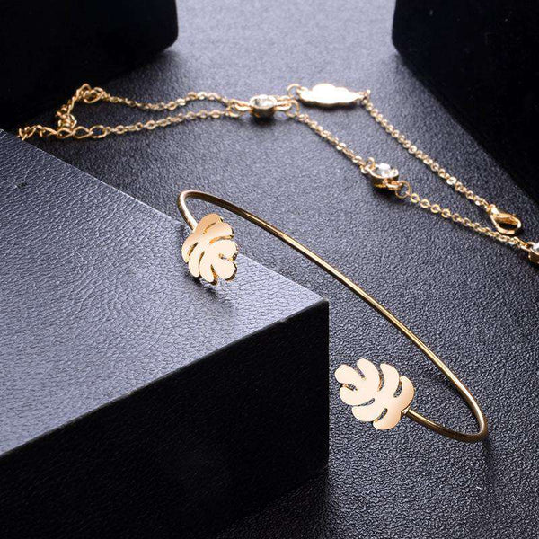 Cute Sun Cloud Leaf náramok Set - Lupsona
