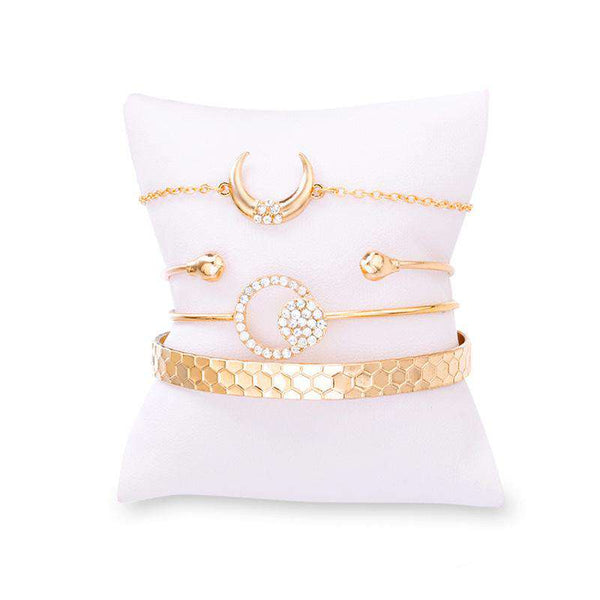 Chic Crescent Strass Armband Set - Lupsona