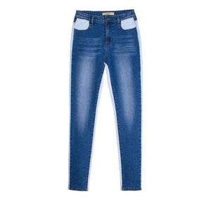 Cool Color Patch Korkea Vaate Skinny Jeans - Lupsona