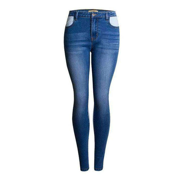 Cool Color Patch Vysoko dlhý Skinny Jeans - Lupsona