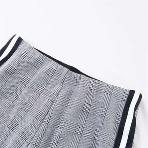 Stripuri laterale Houndstooth Pattern Pantaloni Slab