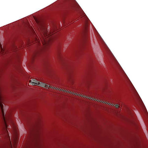 PU Lieder Duebel Zipper Slim Rock - Lupsona
