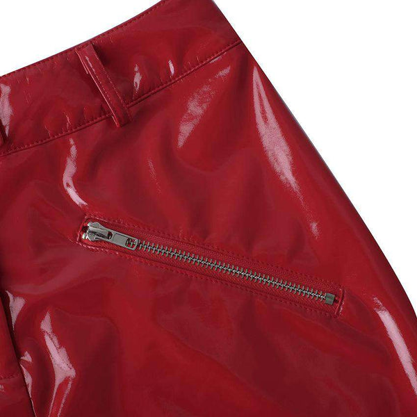PU Lieder Dual Zipper Slim Rock