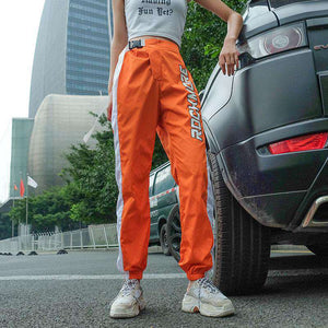 ROCK MORE Print Buckle Casual Jogger Pants - Lupsona