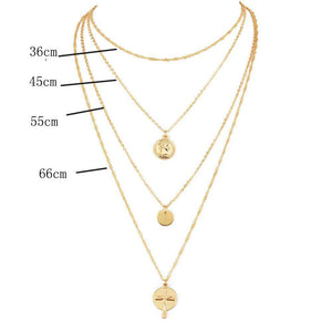 Chic Cross Multi-Layer Collarbone Necklace - Lupsona