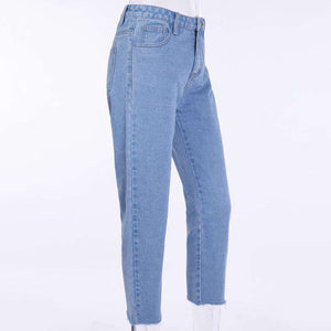 Zréck zipper Hype High waiste Slim Jeans - Lupsona