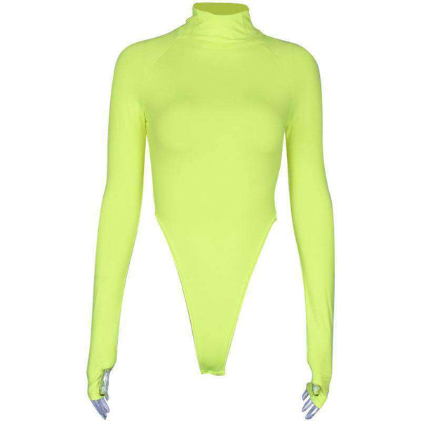 body slim color collo al neon