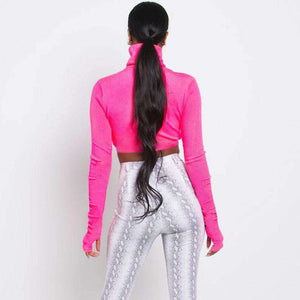 Top corto crop color rosa chiaro - Lupsona