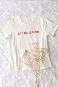 BAD MIRLS CLUB Letters T-Shirt - Lupsona