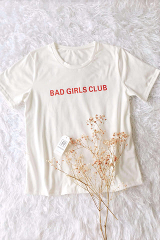 BAD GIRLS CLUB Letters T-shirt