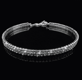 2/3/4 Lines Sparkle Diamonds Simple Narrow Choker - Lupsona