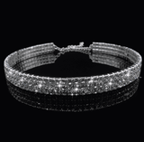 2 / 3 / 4 Lines Sparkle Diamonds Gargantilla estrecha simple - Lupsona