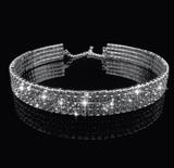 2 / 3 / 4-lijnen Sparkle Diamonds Simple Narrow Choker - Lupsona