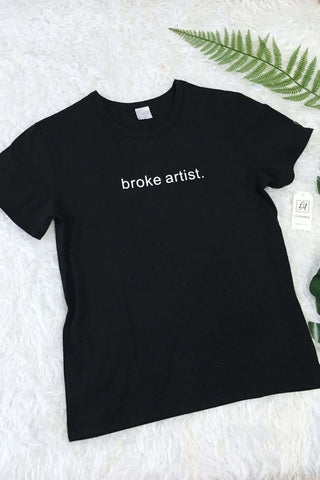 Broke Artist. Cool Grunge T-shirt