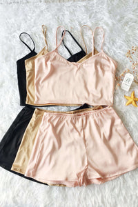 Silky Cami Kjóll Shorts 2 Piece Set