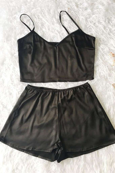 Silky Cami Casual Shortsit 2 Piece Set