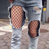 Black Fishnet Tights Jeans-mate Mesh 팬티 스타킹 - Lupsona