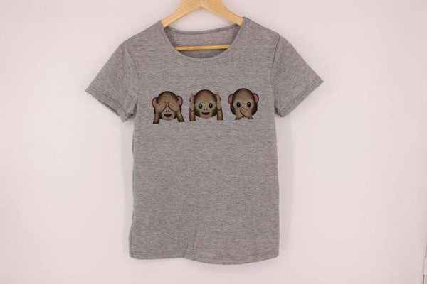 Emoji Monkey Casual T-shirt - Lupsona