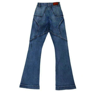 Butt Star Muster Hohe Taille Slim Jeans - Lupsona