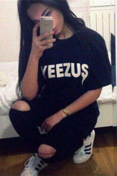 Tee-shirt Yeezus Cool Street Hip Pop