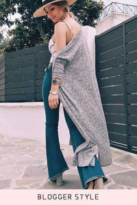 Boho Denim Bell Bottoms Extra Jeans Flake - Lupsona