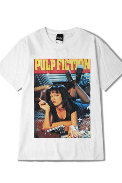 Pulp Fiction Poster Print Oversize T-shirt