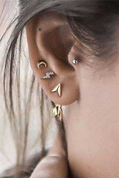 Chic Moon Arrow Ensemble de boucles d'oreilles goutte d'eau - Lupsona