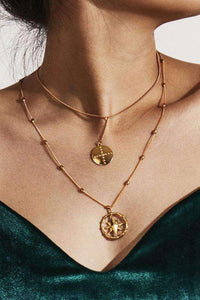 Cross Octagram Pendant Collarbone Necklace - Lupsona