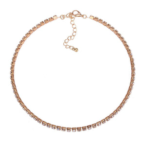 Rose Uhuelt Multi-Layer Diamant Kette Halskette Set