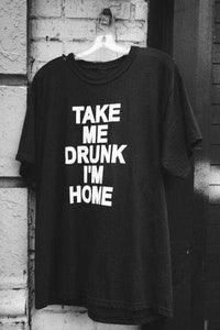 TAG ME DRUNK Jeg er HOME Street Cotton T-shirt - Lupsona