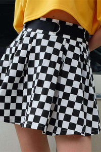 Cool Checker Prenta Pleated Pils - Lupsona