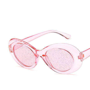 Cute Glitter Cat Eyes Sunglasses - Lupsona